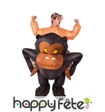 Costume à dos de gorille