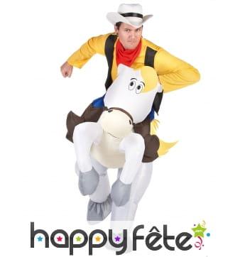 Costume à dos de Lucky Luke et Jolly Jumper