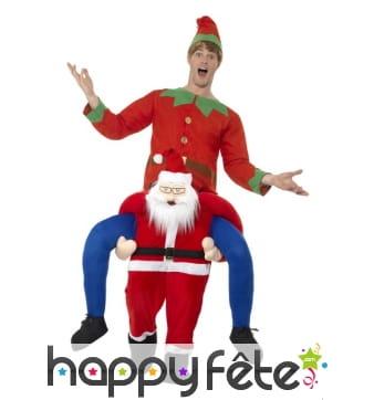 Costume à dos de père Noël