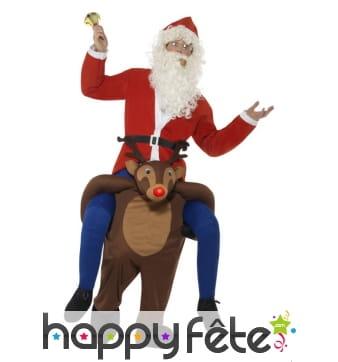 Costume à dos de serf de Noël