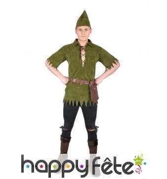Costume adulte de Robin vert kaki