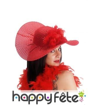 Chapeau ample et chic paillettes rouges femme