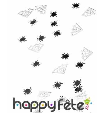 Confettis araignées et toiles de table