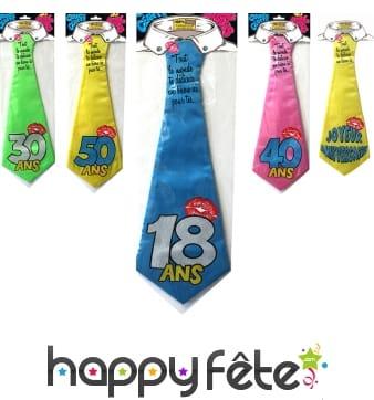 Cravate Anniversaire humoristique