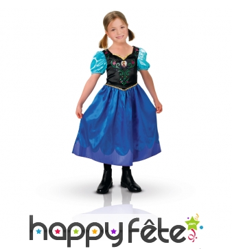 Costume anna reine des neiges pour enfant