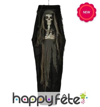Cercueil avec squelette, 160 cm