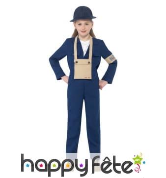 Costume Air Warden seconde guerre, pour fille