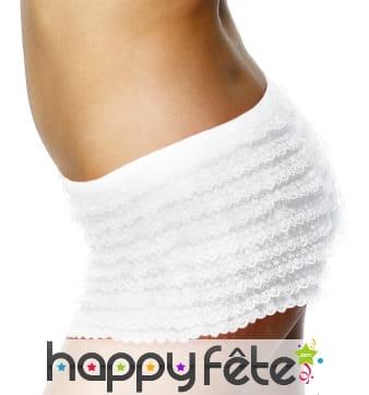 Culotte blanche avec froufrou de taille standard