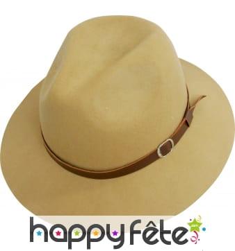 Chapeau bogart brun