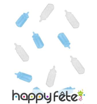 Confettis biberon bleu ciel pour la table