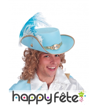 Chapeau bleu ciel et doré de Prince