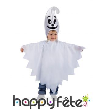 Cape blanche de petit fantôme avec bonnet