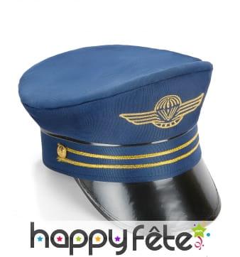 Casquette bleue de capitaine de la marine