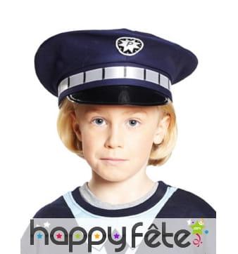 Casquette bleue de policier pour enfant