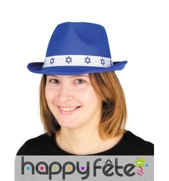 Chapeau bleu de Bar Mitzvah pour adulte