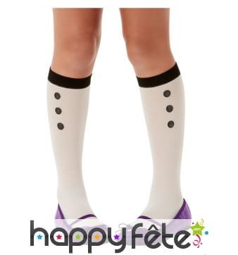 Chaussettes blanches de poupée pour enfant
