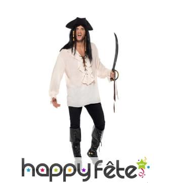 Chemise blanche de pirate pour adulte
