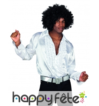 Chemise blanche disco pour homme
