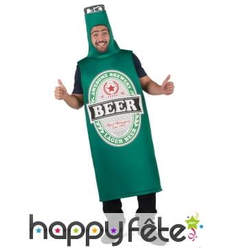 Combinaison bouteille de bière beer pour adulte