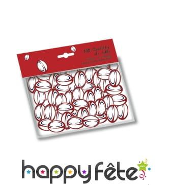Confettis ballon de rugby rouge