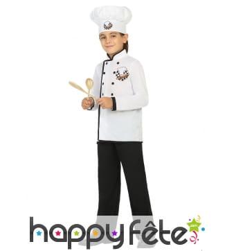 Costume blanc de petit cuisinier pour enfant