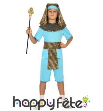 Costume bleu de petit pharaon
