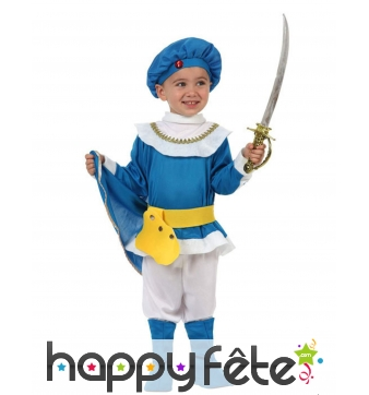 Costume bleu de petit prince