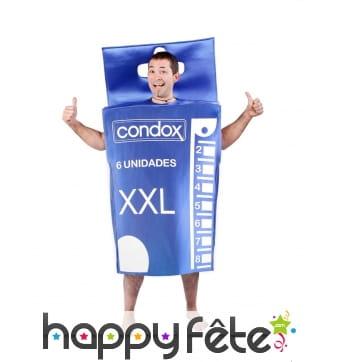 Costume boîte de préservatifs pour adulte
