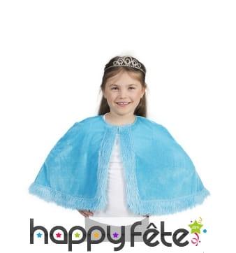 Capeline bleue en peluche pour enfant