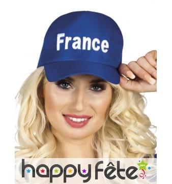 Casquette bleue imprimé France