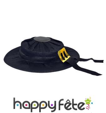Chapeau breton noir en carton