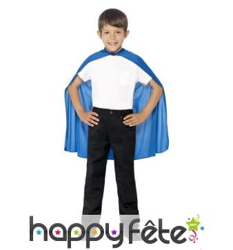 Cape bleue pour enfant