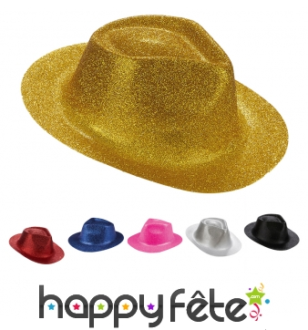 Chapeau borsalino pailleté
