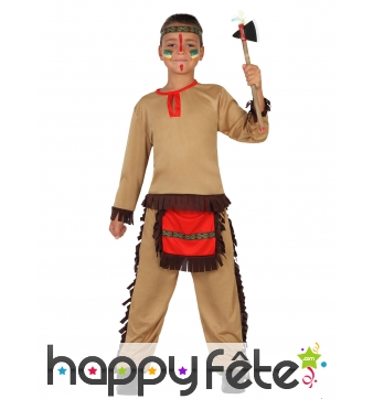 Costume beige rouge de petit Indien