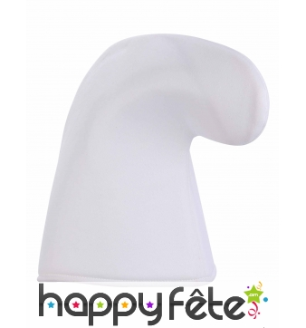 Chapeau blanc uni de nain
