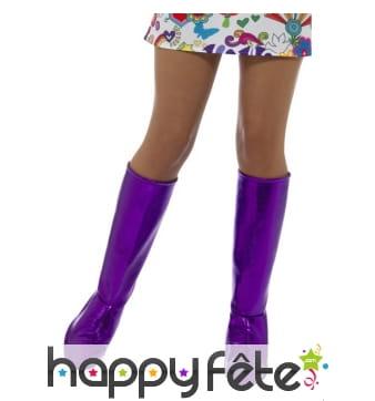 Couvre bottes violet brillant de gogo