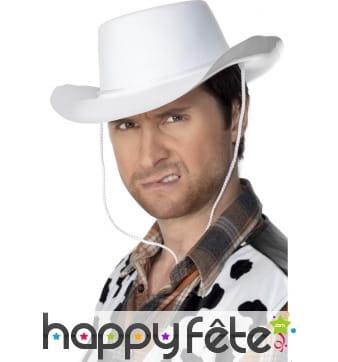 Chapeau cowboy adulte blanc