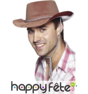 Chapeau cowboy adulte marron