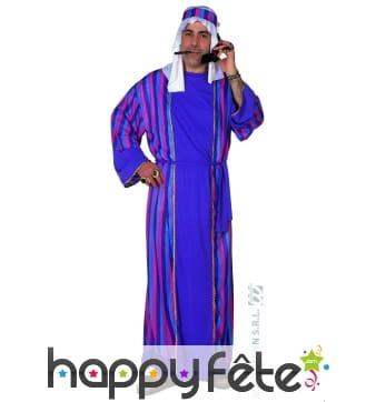 Costume cheik arabe violet