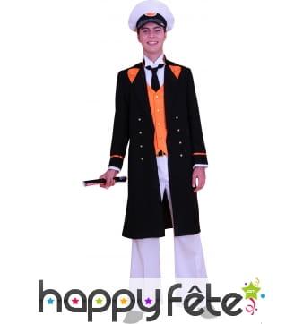 Costume Capitaine BD noir orange