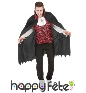 Costume cape de vampire imprimé têtes de mort