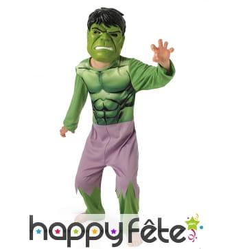 Costume classique de Hulk Avengers pour enfant