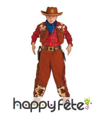 Costume classique de petit cowboy