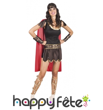 Costume court de femme gladiatrice romaine