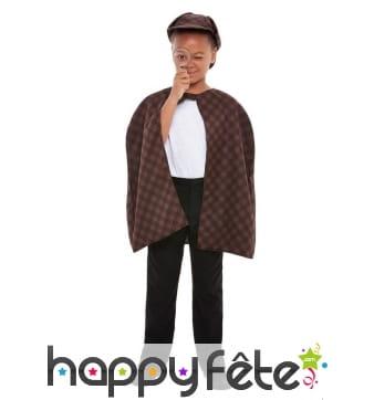 Cape, chapeau et loupe de détective pour enfant