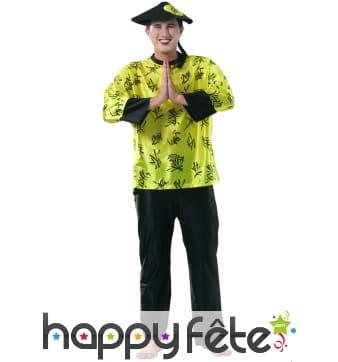 Costume chinois jaune