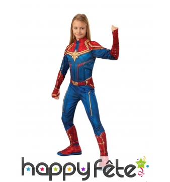 Costume Captain Marvel pour fille
