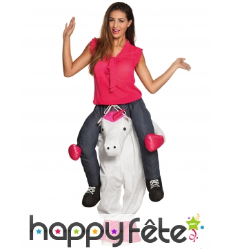 Costume Carry Me de licorne pour adulte