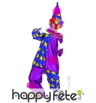 Costume clown mauve