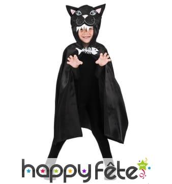 Cape chat noir pour enfant